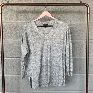 J. Crew Heather Blue Merino Linen Sweater